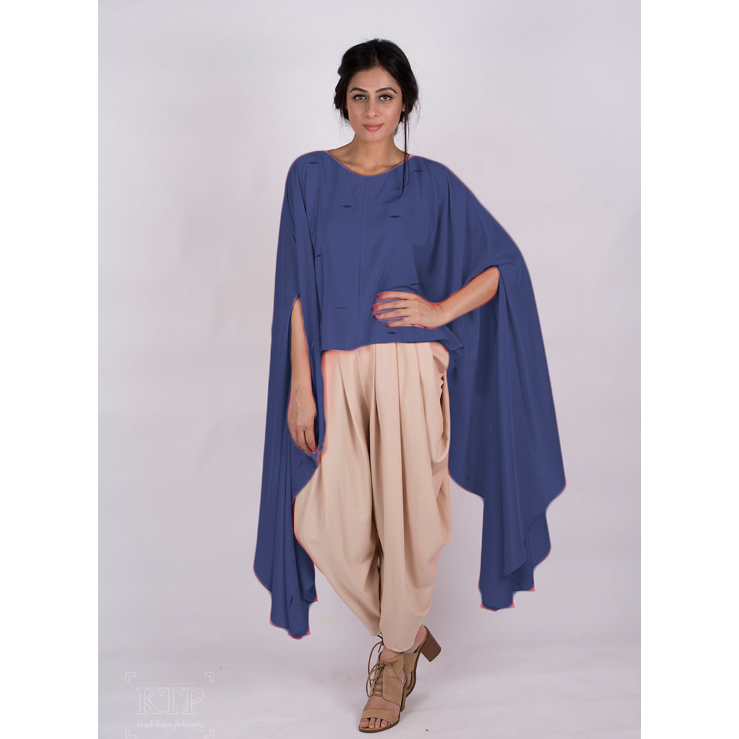 Free Size Cape And Dhoti Pants