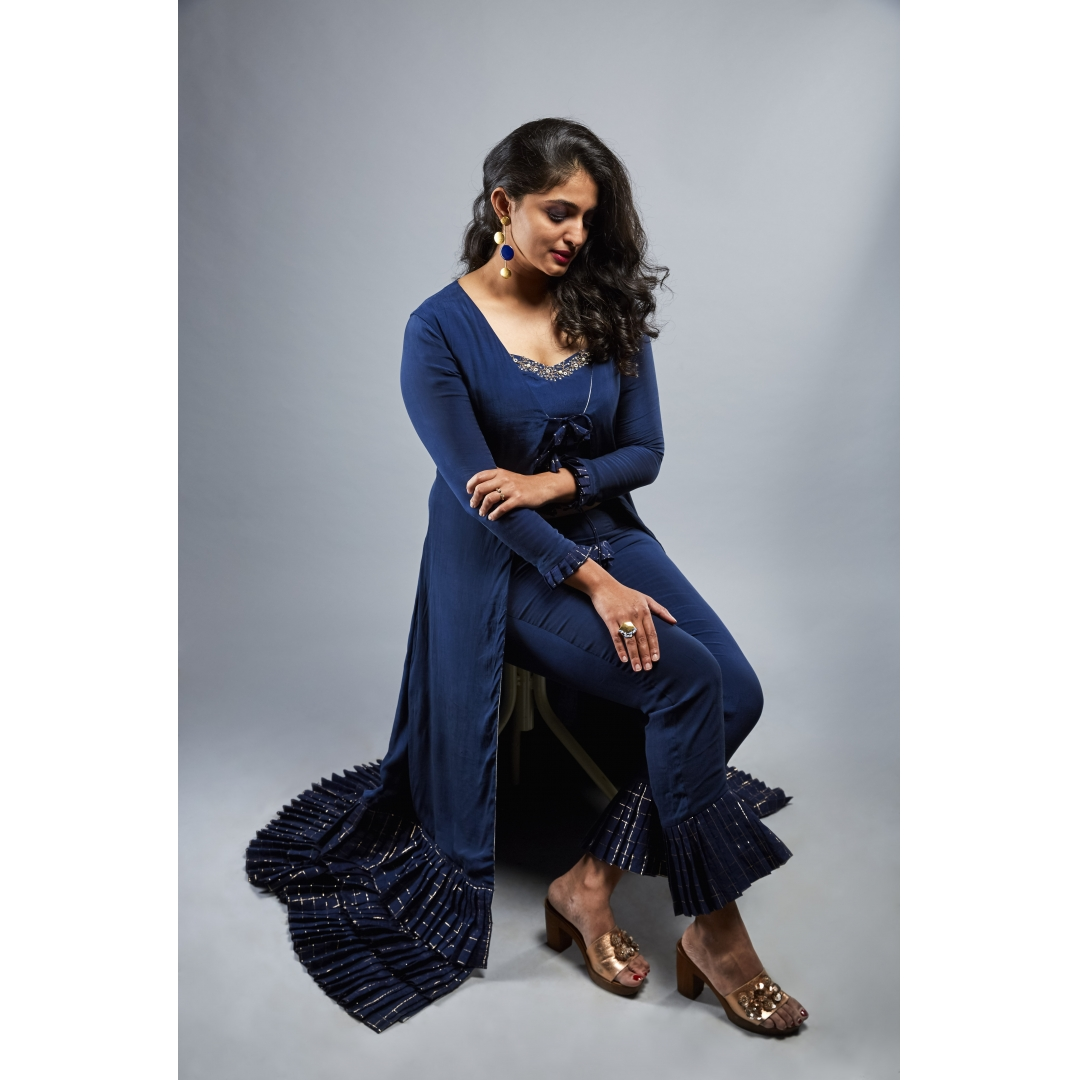 Navy Blue Pleats And More Pleats