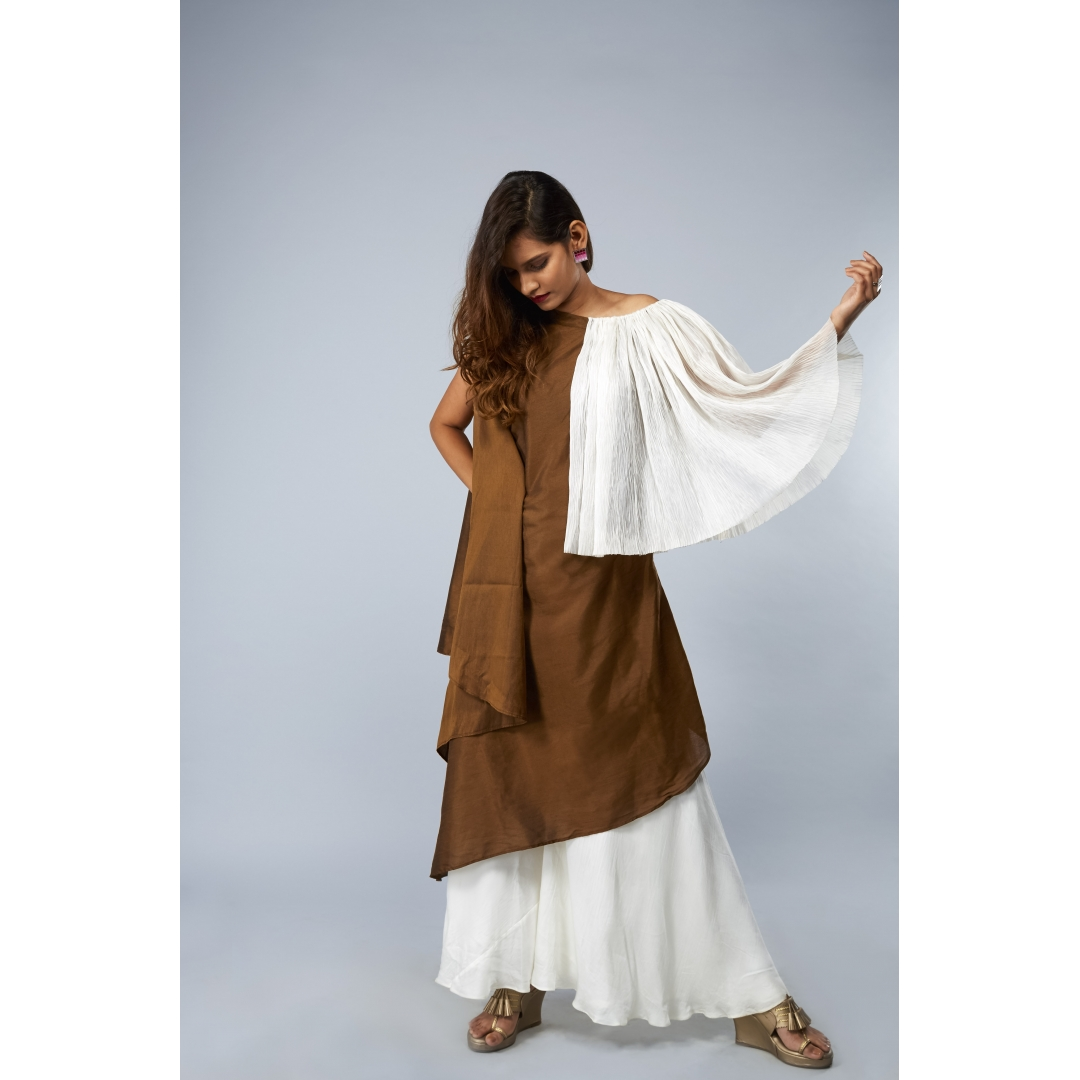Brown Kaftan Drape