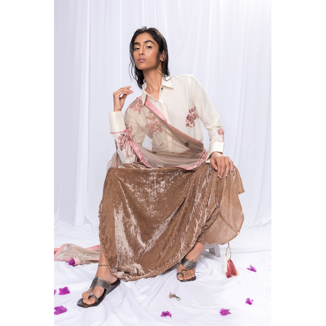 Shirt And Dhoti, Dupatta Set