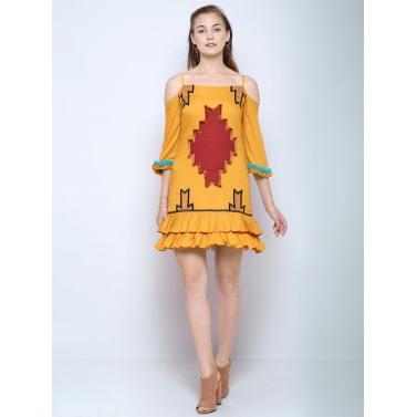 Evil eye boho dress