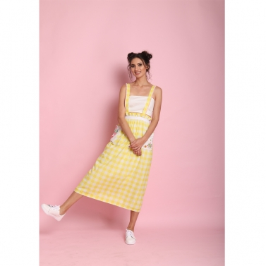 Yellow check Dungaree