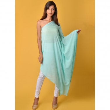 Blue off shoulder Kaftan top