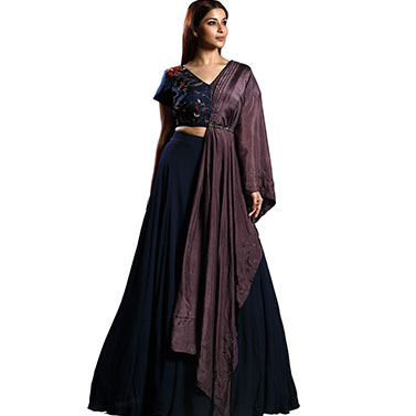 designer-womens-wear/one-shoulder-draped-blouse-skirt