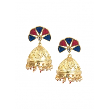Blue Multi jhumka Earrings