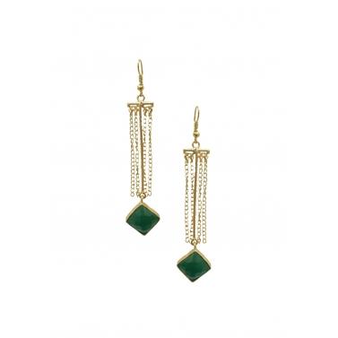 Esme Green Tassel Earrings