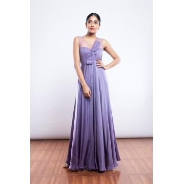 Lavender Flair Gown