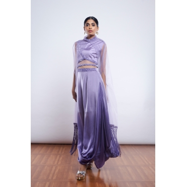 designer-womens-wear/lavender-ombre-drape-skirt-with-crop-top