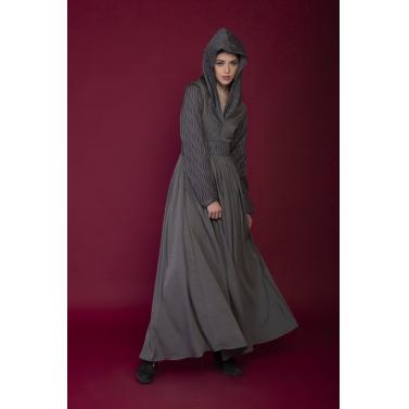 grey hoodie long dress
