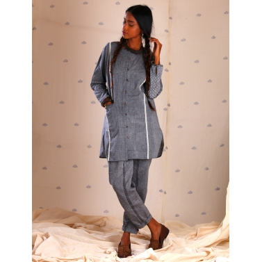 Grey mangalgiri tunic