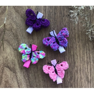 Butterfly Alligator Clips - Set of 4 - Combo C