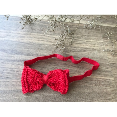 Bow elastic Hairband - Red