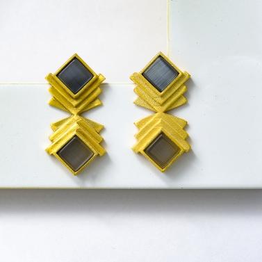 diamond shaped jhalak earrings