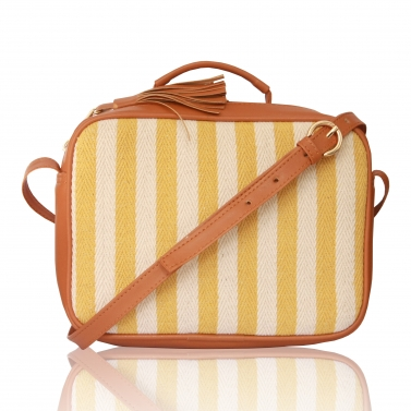 Yellow Stripes briefcase sling
