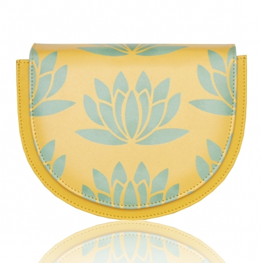 Yellow lotus Semi Sling
