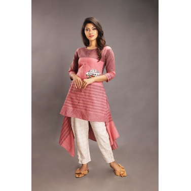 Shaakh Pink Top & Chequered Pants