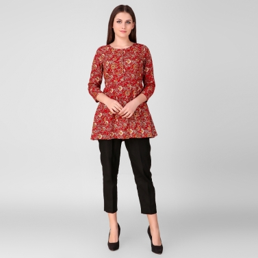 Red Printed Tunic 1