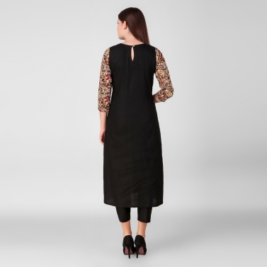 Black PATCH printed Kurta