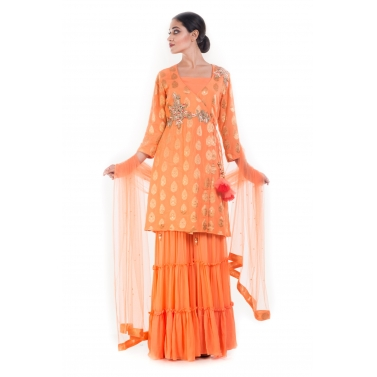 Citrus Golden Sharara Set