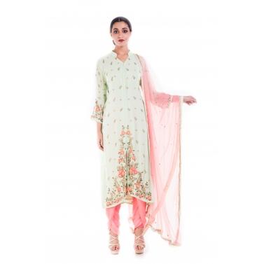 Spring Green Floral Salwar Suit