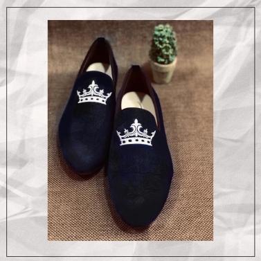 velvet crush edition 1 black crown loafers