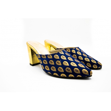 designer-womens-wear/blue-and-golden-mules