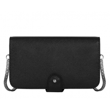 Luxe Ebony Toybee Clutch Bag