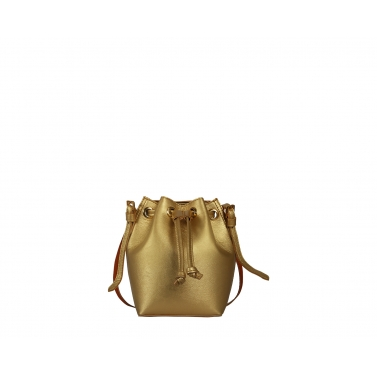 Penny Bucket Bag - Gold