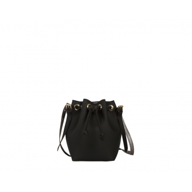 Penny Bucket Bag - Black Silver