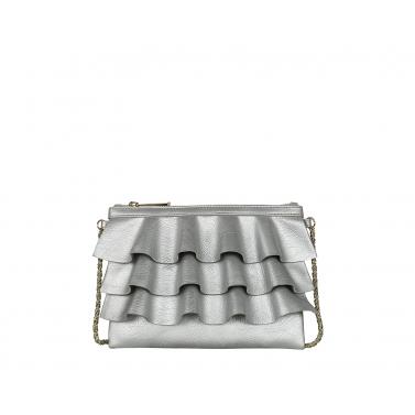 Bruffle Crossbody Bag - Metal