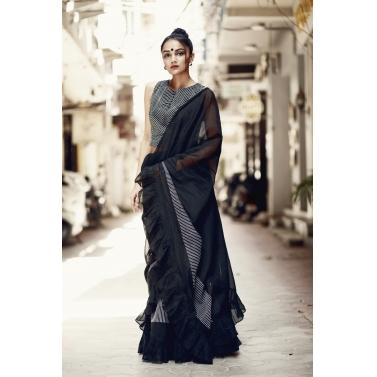 Cocktail frill sari