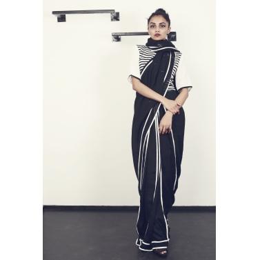Vintage Stripes Sari