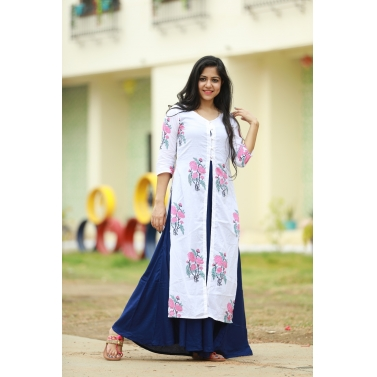 Kurta And Maxi Dress Set
