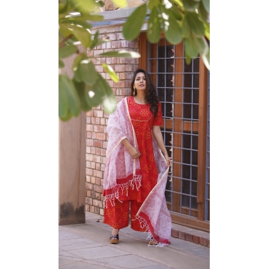 Bandhej Suit Set