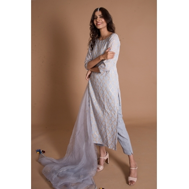 Breezy Blue Kurta Set1