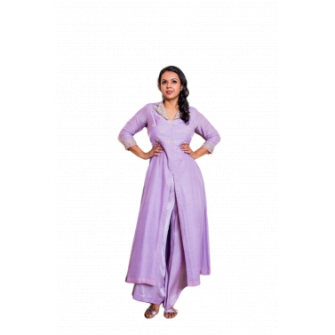 Indowestern Dress With Collar Detailing And Palazzos