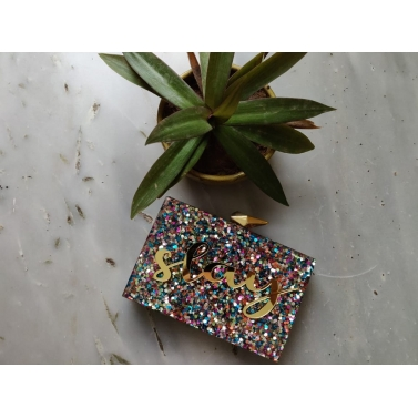 Multicolored Resin Slay Clutch