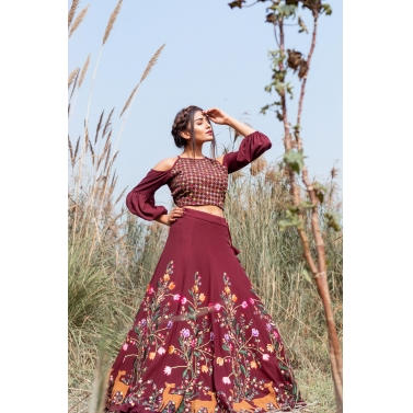Wimsical jungle lehenga