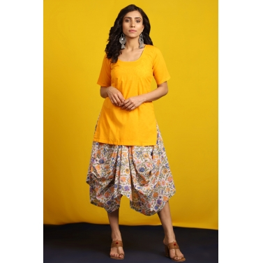 designer-womens-wear/saffron-cowl-layered-set