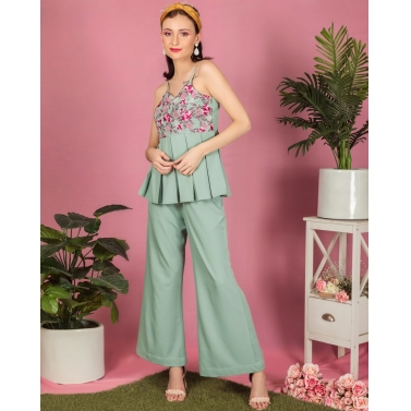 designer-womens-wear/misty-green-flower-power-coords
