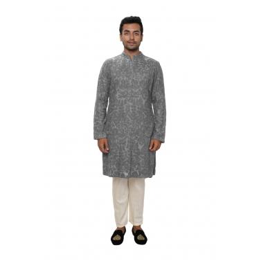 designer-mens-wear/grey-all-over-ari-embroidered-kurta-set