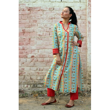 Rouge kurta pant set