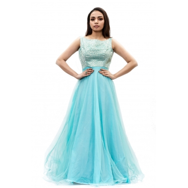 Turquoise-Blue-Long-Gown