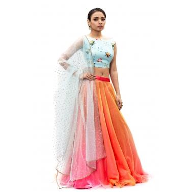 designer-womens-wear/blue-and-orange-lehanga