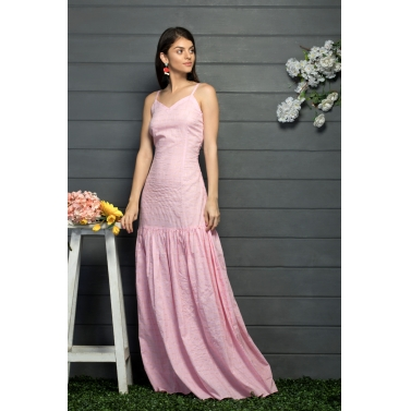 Full length Gown with flare detail from thigh