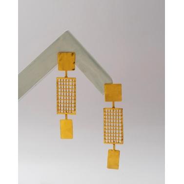 waffled kanak earrings