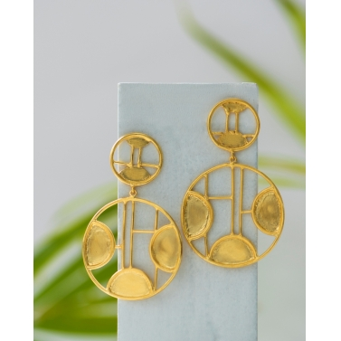 circular disc kanak earrings
