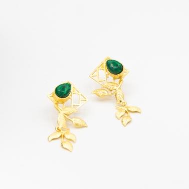 bric a brac leaf drop nisarg earrings 1