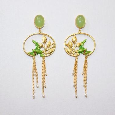 designer-womens-wear/love-circle-birds-of-paradise-earrings