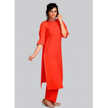 Tomato Red Kurta Set